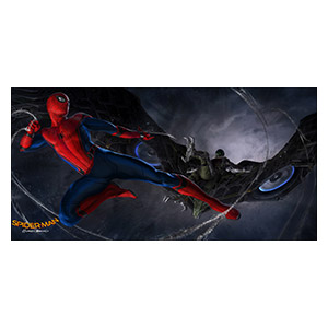 Spider-man. Размер: 120 х 60 см